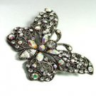 Antique Silver Crystals Butterfly Brooch  1BP49975