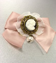 1 Dozen Pink Ribbon Cameo Brooch Pins 1BP001382