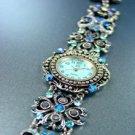 Blue Crystals Antique Victorian Watch Replica 1W353259