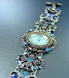 Blue Crystals Antique Victorian Watch Replica 1W353259