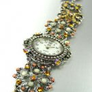 Brown Crystals Antique Victorian Watch Replica 1W353259