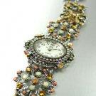 Brown Crystals Antique Victorian Watch Replica 1W353259