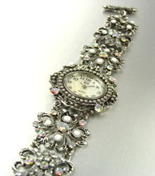 Clear Crystals Antique Victorian Watch Replica 1W353259