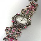 Pink Crystals Antique Victorian Watch Replica 1W353259