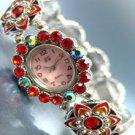 Red Crystals Enamel Bracelet Watch 1W353256
