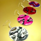 Dozen Colorful Disks Dangle Earrings    1DE400117
