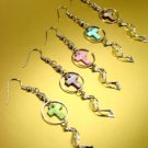 Dozen Color Cross Shell Dangle Earrings   1DE400877