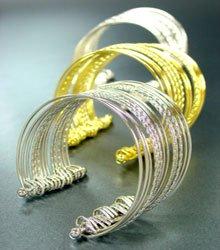 Dozen Metal Wire Cuff Style Bracelets     1DB400953