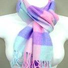 Colorful Dozen Plaid Print Faux Wool Scarf