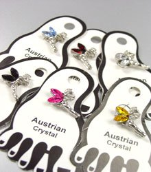 Dozen Color Crystals TinkerBell Toe Rings 1TR027344