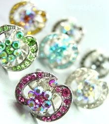 Dozen Colorful Crystals Fashion Rings  100FR18405