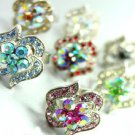 Dozen Color Crystals Fashion Ring   100FR18390