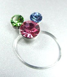 Dozen Multi Crystals Mouse Toe Rings  1TR35160