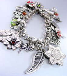 Antique Silver Charms Bracelet