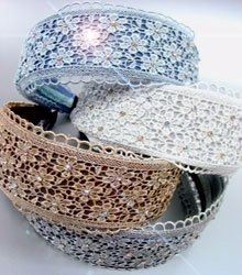 Dozen Assorted Lace Crystals Head Bands