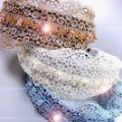 Dozen Lace Crystals Pearls Head Bands