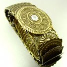 Antique Gold Stretch Scale Fashion Belt