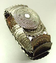Antique Silver Stretch Scale Fashion Belt