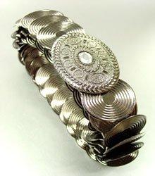 Antique Silver Stretch Scale Fashion Belt