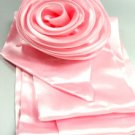 Light Pink Satin Scarf Belt Brooch Wrap