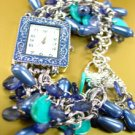 Blue Pearls Beads Shells Cha Cha Watch