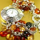 Brown Lucite Crystals Cha Cha Watch