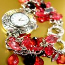 Pink Lucite Crystals Cha Cha Watch