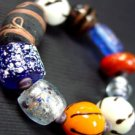 Multi Glass Murano Beads Bracelet 1B2456
