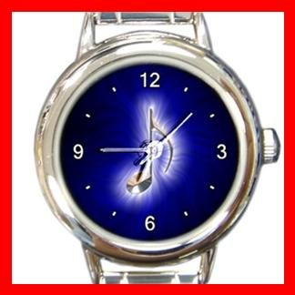 Blue Music Note Magic Italian Charm Wrist Watch 001