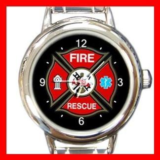 EMT Fire Fighter Italian Charm Wrist Watch 002