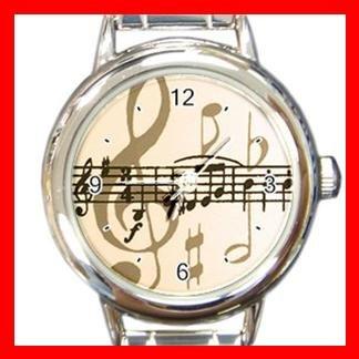Music Note Italian Charm Wrist Watch 004