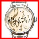Music Note Italian Charm Wrist Watch 004