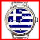 Greek Flag Hobby Italian Charm Wrist Watch 005