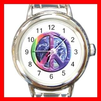 Rainbow Earth Peace Italian Charm Wrist Watch 007