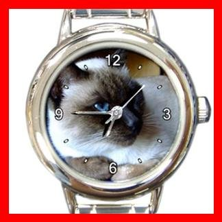 Siamese Cat Pet Animal Italian Charm Wrist Watch 018