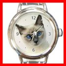 Siamese Cat Pet Animal Italian Charm Wrist Watch 019