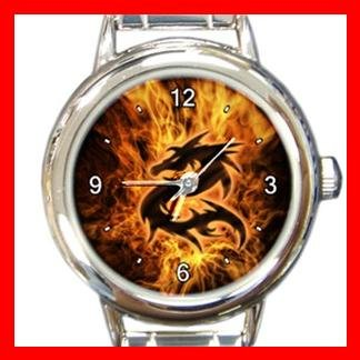Dragon Fire Flame Myth Italian Charm Wrist Watch 022