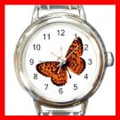 Monarch Butterfly Italian Charm Wrist Watch 027