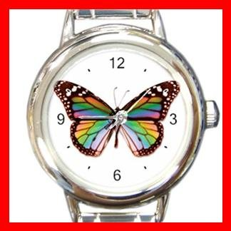 Butterfly Hobby Fun Italian Charm Wrist Watch 037