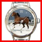 Horse Running on Beach Italian Charm Wrist Watch 047