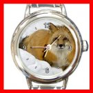 Red Fox in Snow Italian Charm Wrist Watch 048