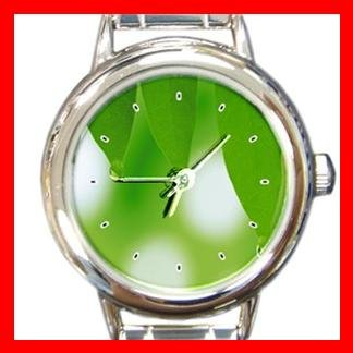 Natual Green Leaves Italian Charm Wrist Watch 049