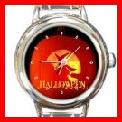 Halloween Witch Pumpkin Italian Charm Wrist Watch 053