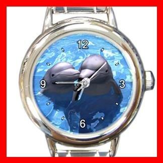 Dolphin Lovers Italian Charm Wrist Watch 056
