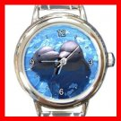 Dolphin Lovers Italian Charm Wrist Watch 056