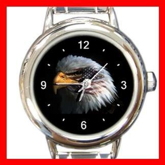 Eagle Eye American Flag Italian Charm Wrist Watch 059