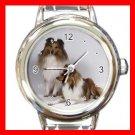 Shetland Sheepdog Dog Pet Italian Charm Wrist Watch 065