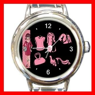 Retro Girl Vector Italian Charm Wrist Watch 066