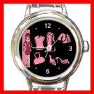Retro Girl Vector Italian Charm Wrist Watch 066