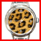 Leopard Skin Pattern Animal Italian Charm Wrist Watch 067